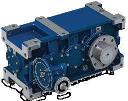 Цилиндрические редукторы серии RXP-E для промышленных подъемных механизмов